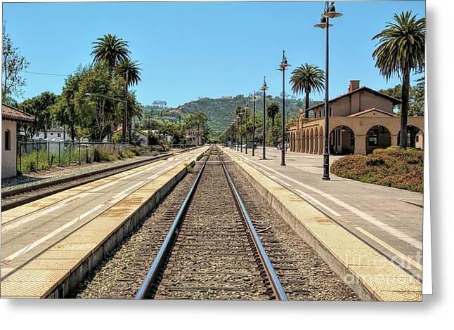 Amtrak Station, Santa Barbara, California Greeting Card