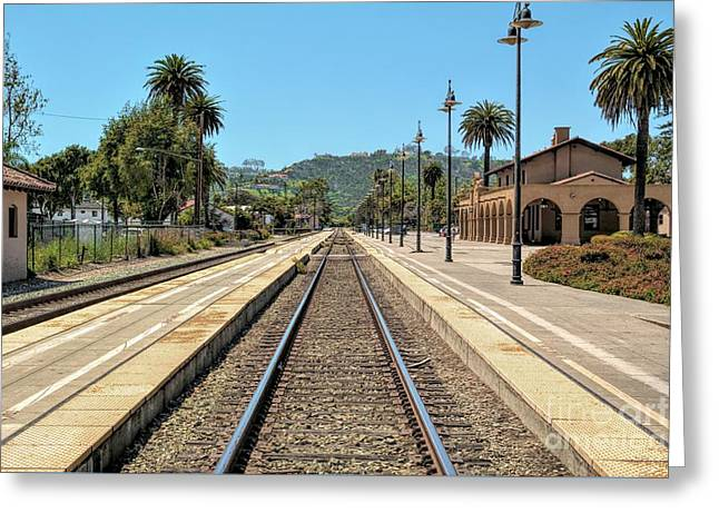 Amtrak Station, Santa Barbara, California Greeting Card