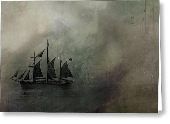 Amundsen And Fram Greeting Card