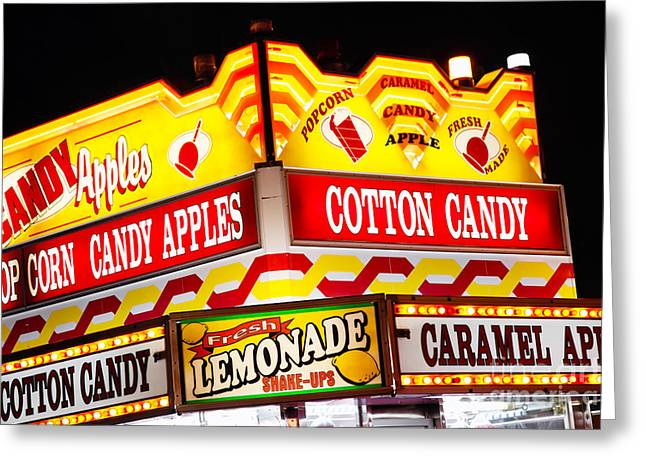 Amusement Park Concession Stand Food Sign Greeting Card by Paul Velgos