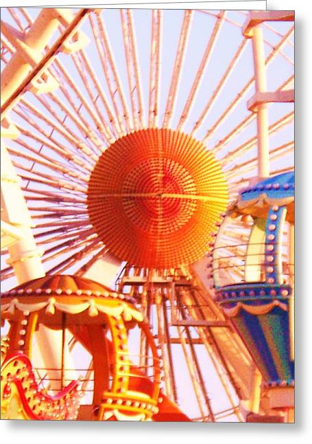 Amusement Rides Greeting Card by Eric  Schiabor