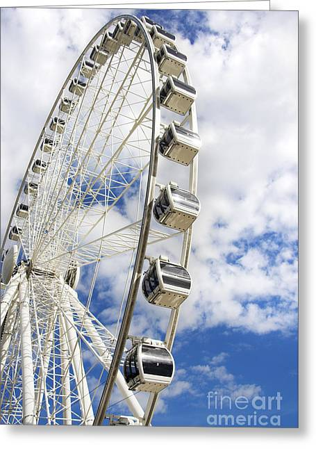 Amusement Wheel Greeting Card by Jorgo Photography - Wall Art Gallery
