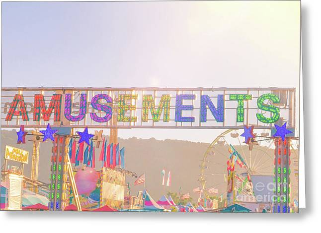 Greeting Card featuring the photograph Amusements by Cindy Garber Iverson