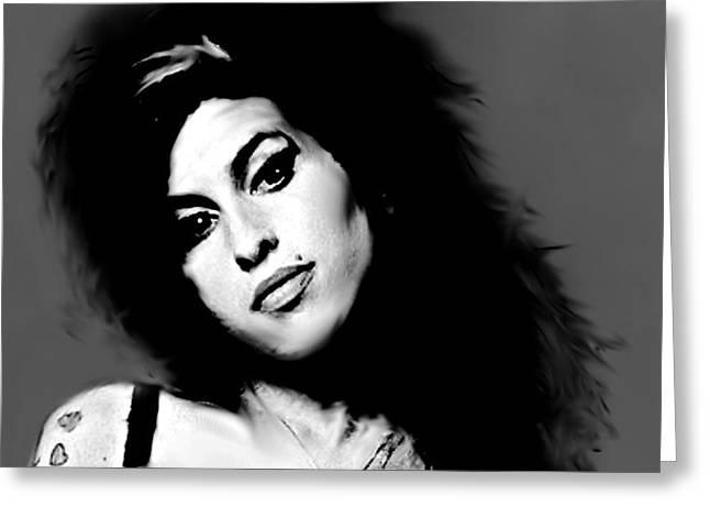 Amy Winehouse  Greeting Card by Enki Art