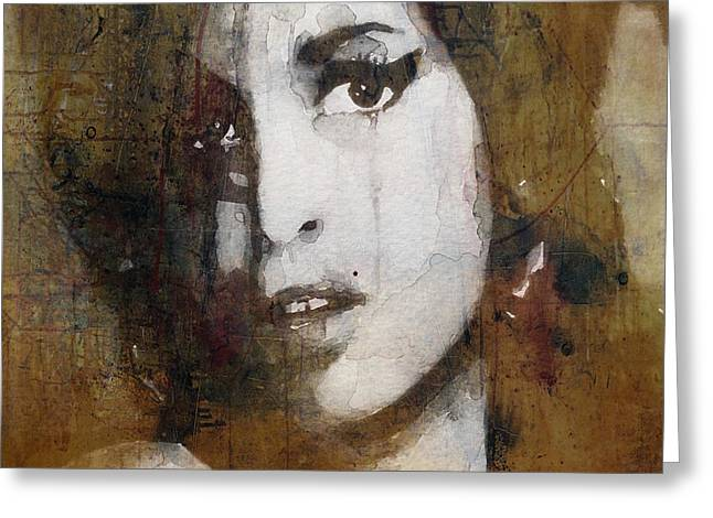 Amy Winehouse Love Is A Losing Game  Greeting Card
