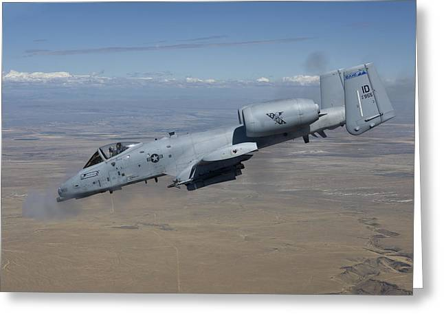 An A-10c Thunderbolt Fires Its 30mm Greeting Card