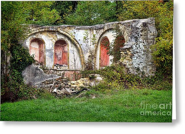 An Abandoned Chapel In France  Greeting Card