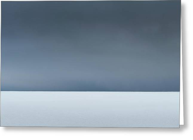 An Abstract Landscape Of The Southern Coast Of Iceland. Greeting Card by Andy Astbury