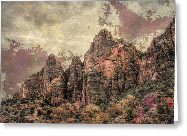 Greeting Card featuring the photograph An Abstract Of Zion by John M Bailey