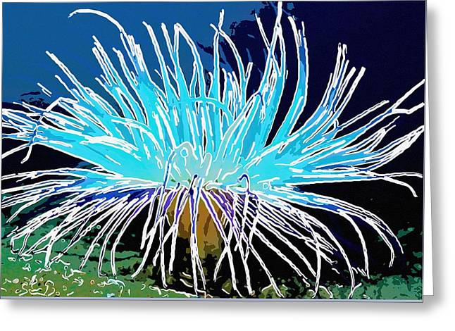 An Abstract Scene Of Sea Anemone 1 Greeting Card by Lanjee Chee