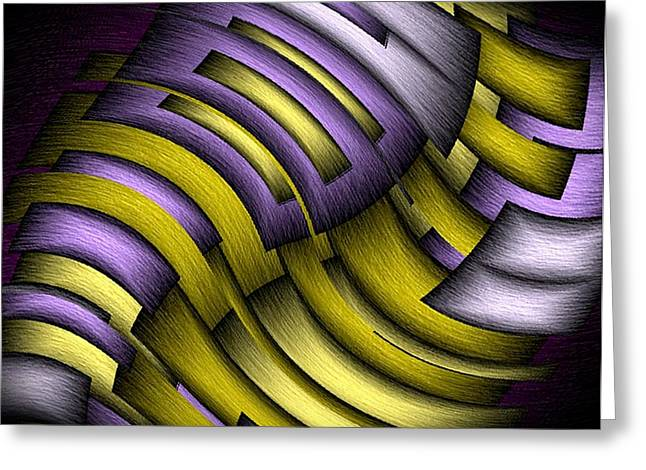 Purple Abstract Greeting Cards - An Abstract Slope Greeting Card by Terry Mulligan