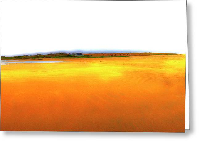 An Abstraction Of Yellows Greeting Card by Jan W Faul