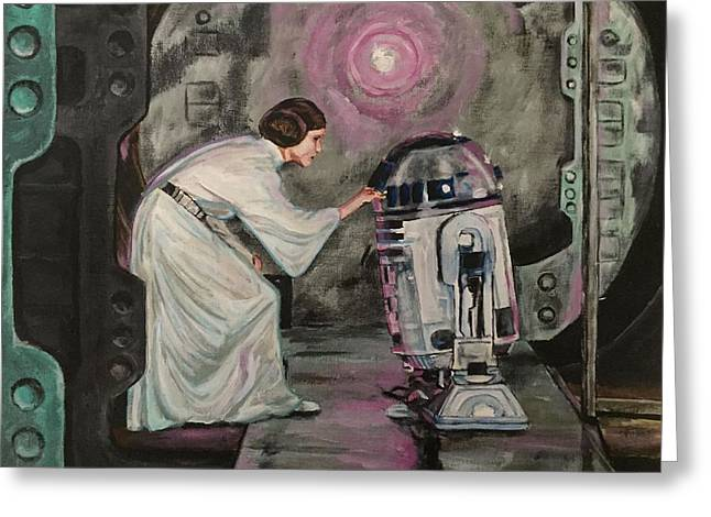 Greeting Card featuring the painting An Act Of Rebellion by Joel Tesch
