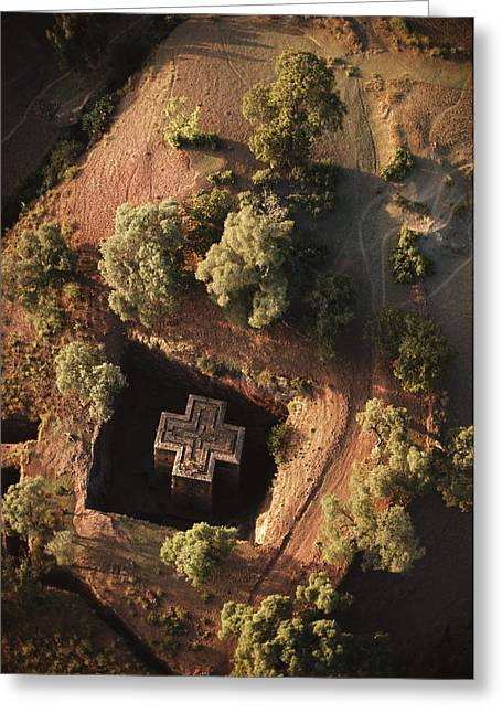 An Aerial View Of Beta Greeting Card by James P. Blair