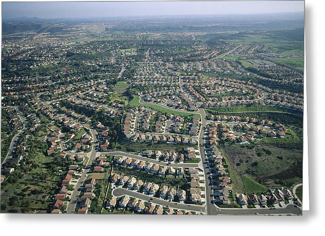 Urban And Suburban Ways Of Life Greeting Cards - An Aerial View Of Urban Sprawl Greeting Card by Joel Sartore