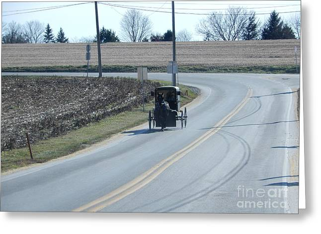 An Afternoon Buggy Ride Greeting Card