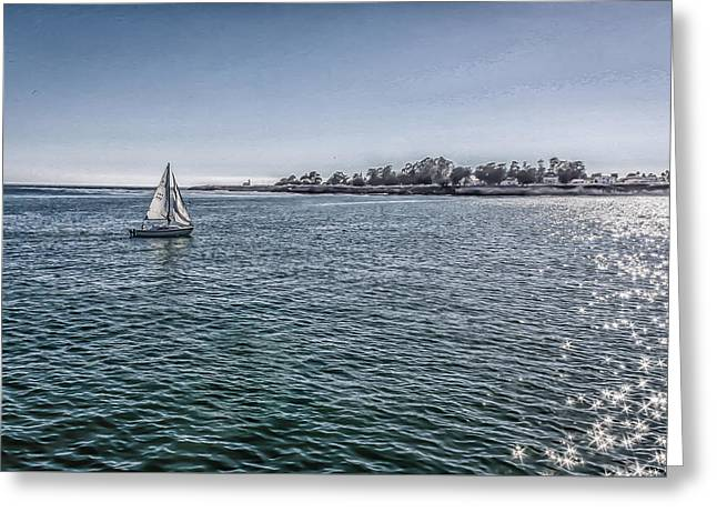 An Afternoon Sail Greeting Card by Mary Chris Hines