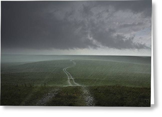 Prairies Greeting Cards - An Afternoon Thunderstorm Coming Greeting Card by Jim Richardson