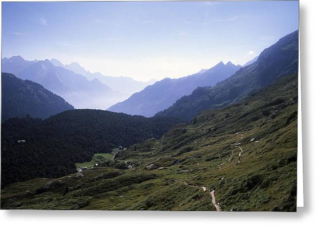An Afternoon View Of The Alpine Hiking Greeting Card