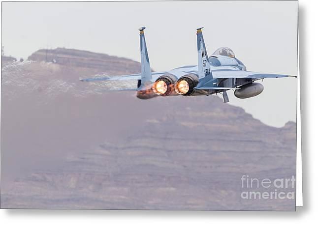 An Aggressor F-15c Eagle Of The U.s Greeting Card