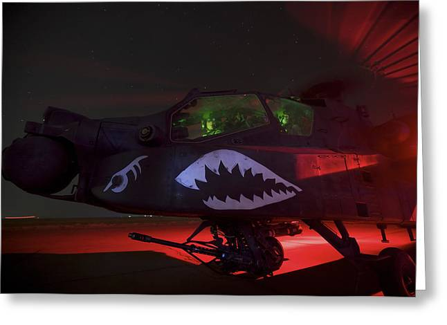 An Ah-64d Apache Longbow Greeting Card by Terry Moore