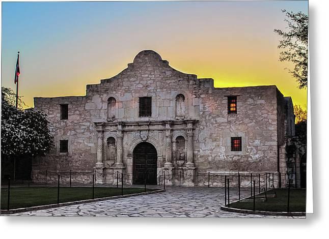 An Alamo Sunrise - San Antonio Texas Greeting Card