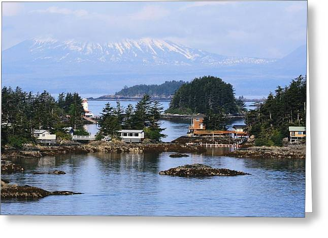Greeting Card featuring the photograph An Alaska Village by Laurinda Bowling