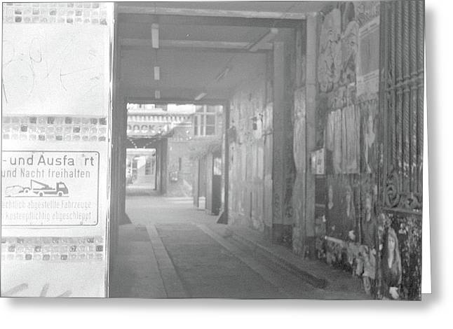 An Alley To A Backstreet Greeting Card