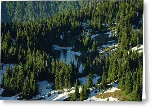 An Alpine Lake  Greeting Card