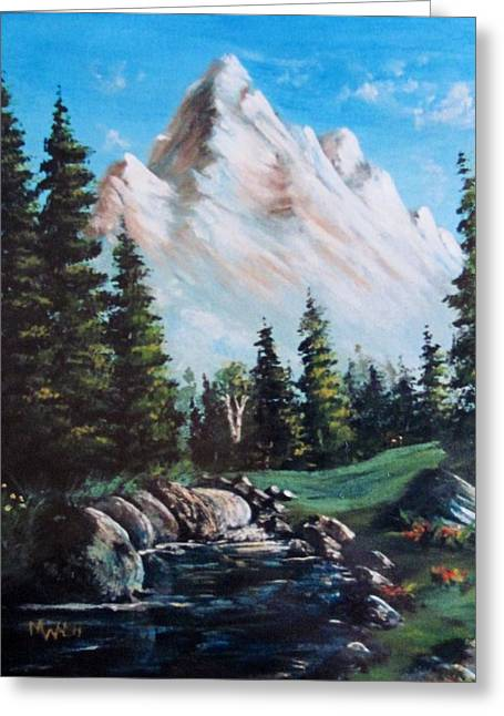 An Alpine Stream Greeting Card