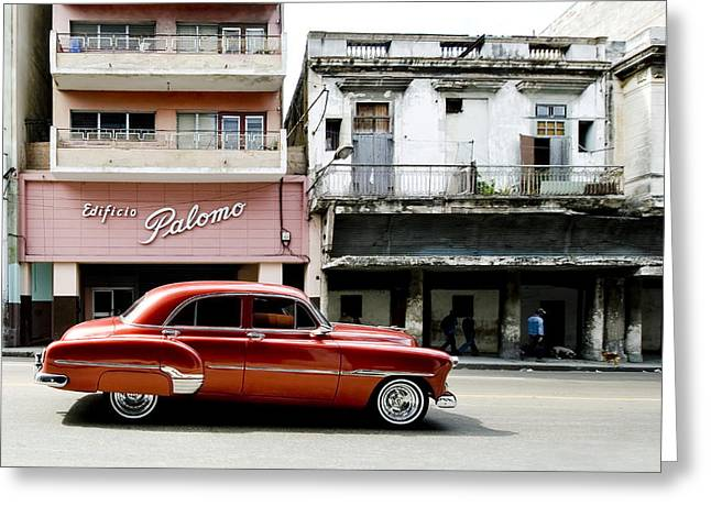 Greeting Card featuring the photograph An American In Havana by Denis Rouleau