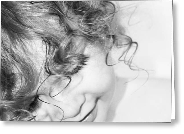 An Angels Smile - Black And White Greeting Card