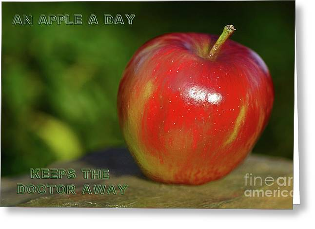 An Apple A Day By Kaye Menner Greeting Card by Kaye Menner