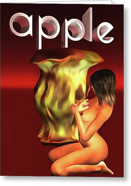 Greeting Card featuring the painting An Apple A Day by Jan Keteleer