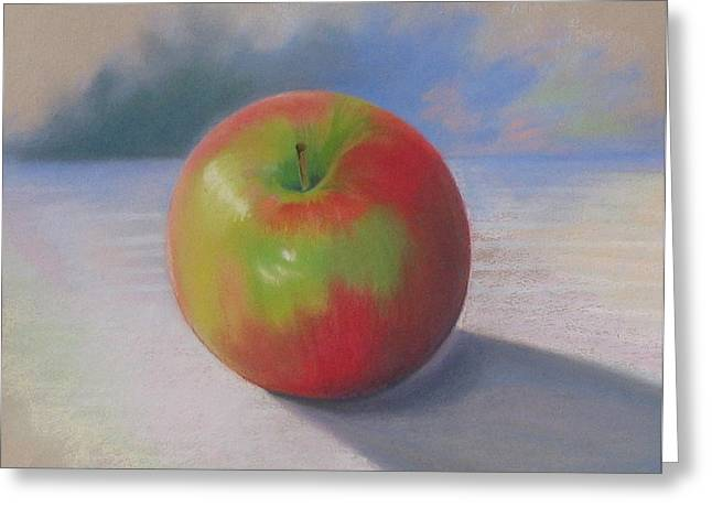 An Apple A Day Greeting Card by Shirley Galbrecht