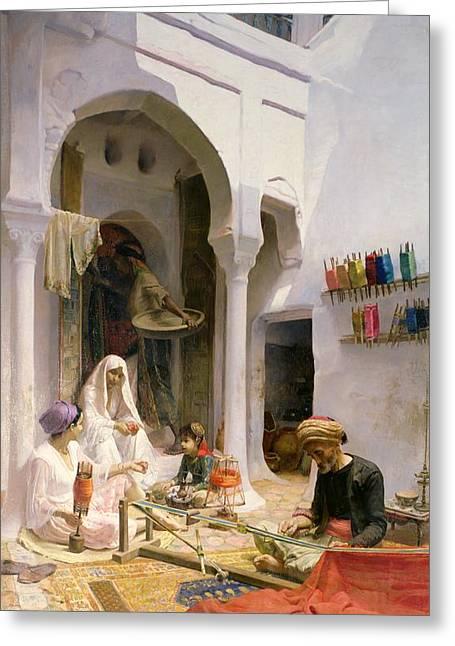 An Arab Weaver Greeting Card