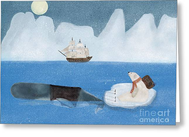 Greeting Card featuring the painting An Arctic Adventure by Bri B