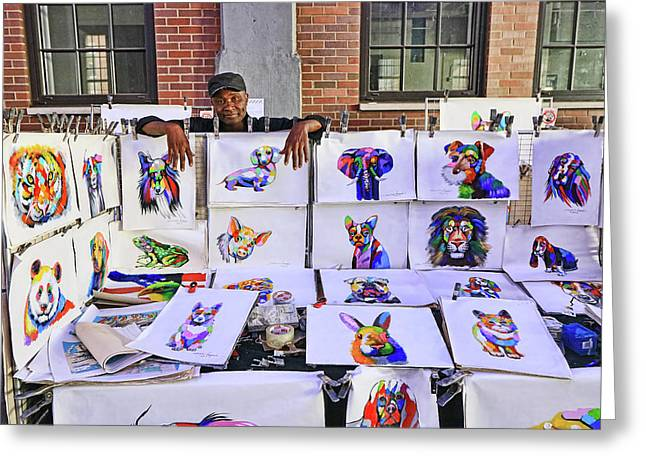 An Artist And His Work Greeting Card