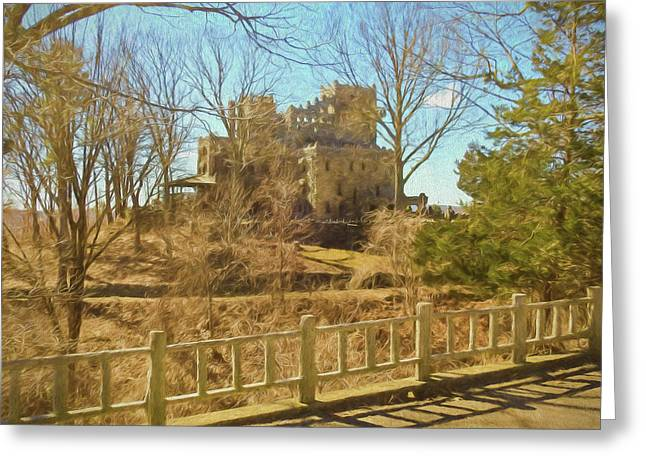 An Artistic View Of Gillette Castle. A Connecticut Sate Park. Greeting Card
