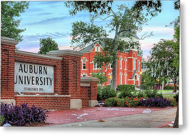 An Auburn University Sunday Morning Greeting Card by JC Findley