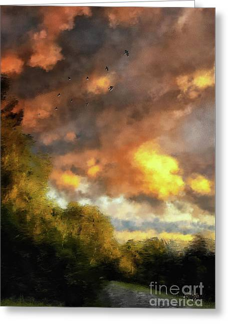 An August Sunset Greeting Card