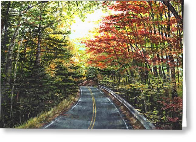An Autumn Day Greeting Card by Shana Rowe Jackson