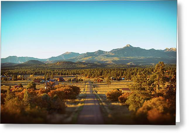 An Autumn Evening In Pagosa Meadows Greeting Card