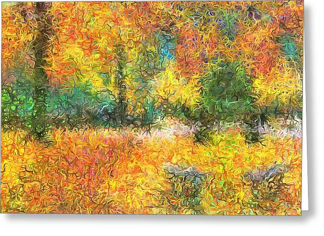An Autumn In The Park Greeting Card