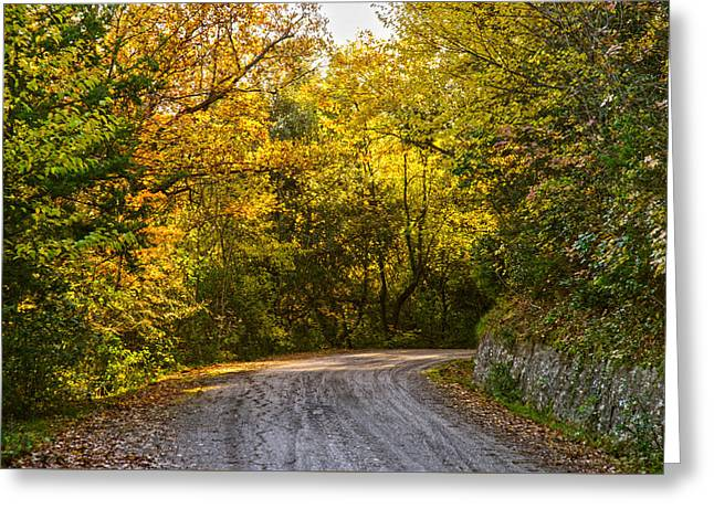 An Autumn Landscape - Hdr 2  Greeting Card by Andrea Mazzocchetti