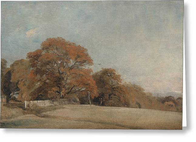 An Autumnal Landscape At East Bergholt Greeting Card by John Constable