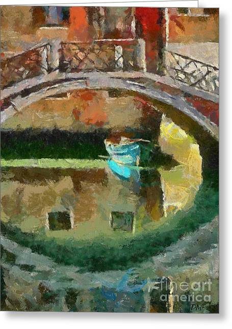 An Early Morning In Venice Greeting Card by Dragica  Micki Fortuna