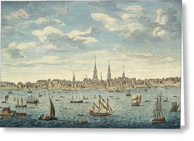 An East Prospective View Of The City Of Philadelphia Greeting Card by George Heap