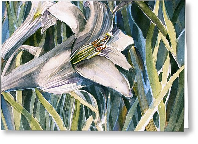 An Easter Lily Greeting Card by Mindy Newman