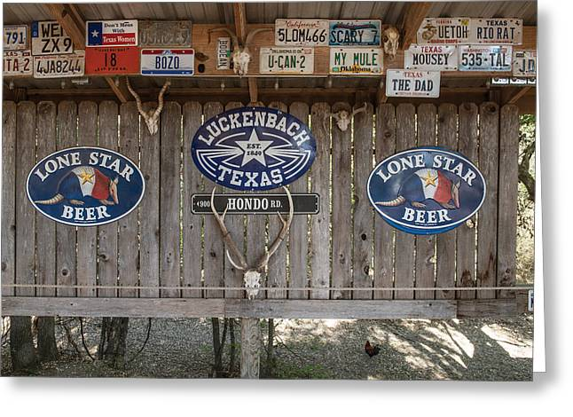 An Eclectic Display In Luckenbach Greeting Card